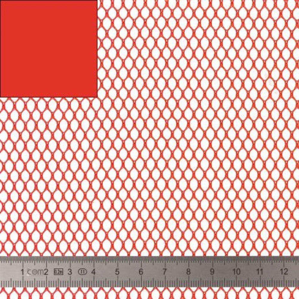 TISSU FILET -  MESH FABRIC rouge
