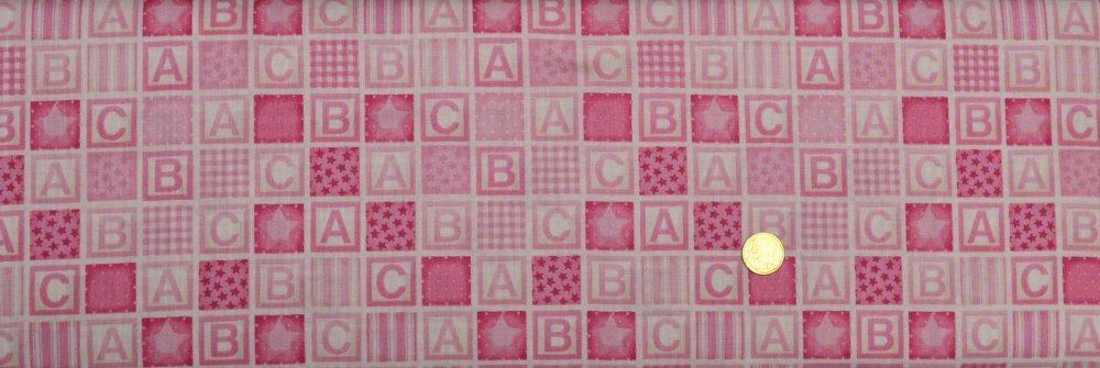 Coupon tissu loisir créatif ABC Rose de makower