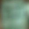 Mini pince à linge en bois vert vintage