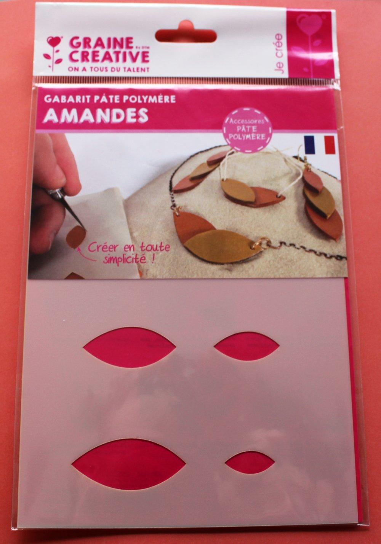 Gabarit pâte polymère Amandes