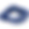 10 perles de pierre bleu lapis-lazuli givrées 8 mm