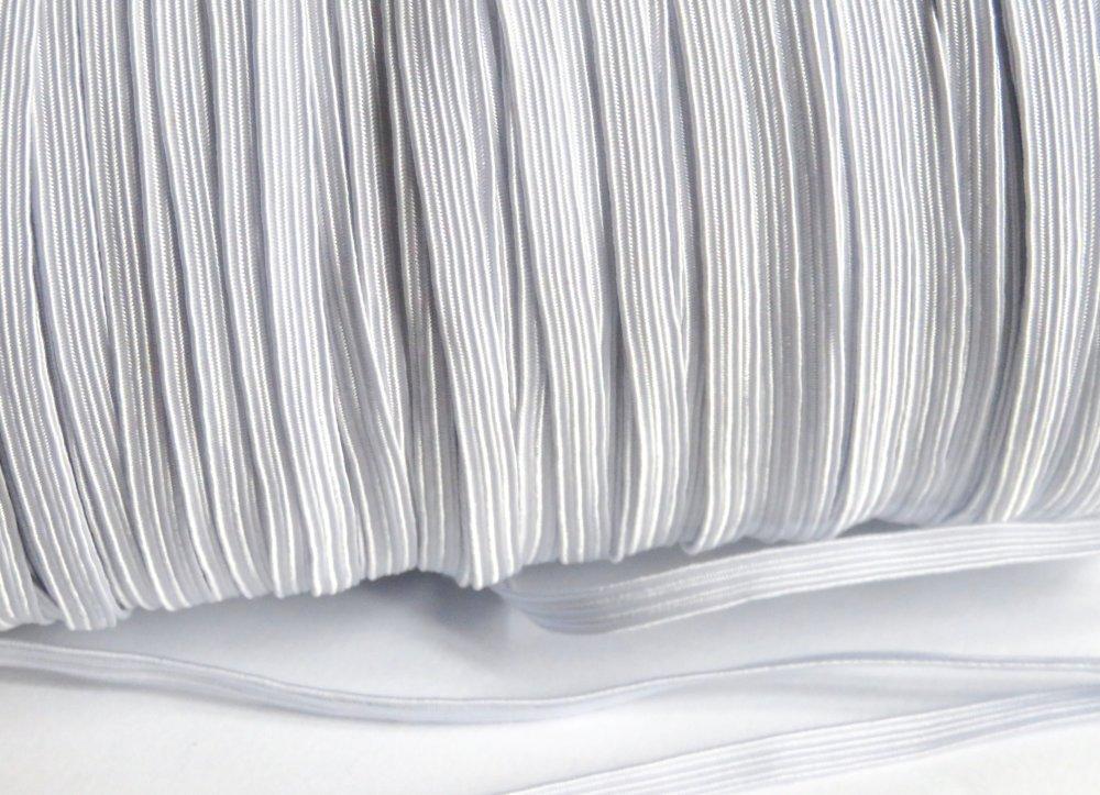 Élastique plat couture blanc 5 mm