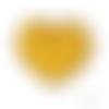 Lot de 3 perles en silicones - 15 mm - jaune citron