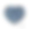 Lot de 3 perles en silicones - 15 mm - bleu ciel
