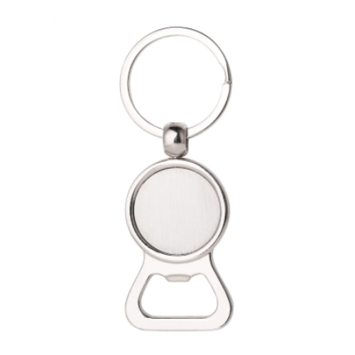 1 support cabochon décapsuleur - porte clés à customiser - couleur argenté