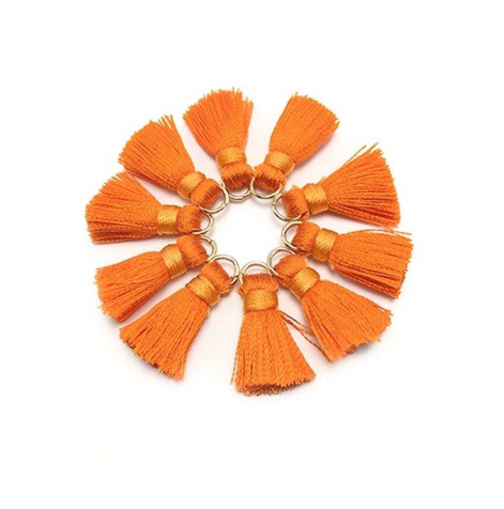 1 Pompon en Soie - 2 cm - Orange