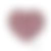 Lot de 3 perles en silicones - 15 mm - rose pâle