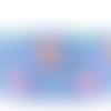 Ruban gros grain renard fond bleu - vendu au mètre