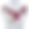 1 col - encolure - plastron - dentelle brodée - rouge