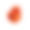 1 stop cordon boule - 15 mm - orange