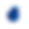 1 stop cordon boule - 15 mm - bleu roi