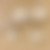 1 pendentif breloque feuille - perle nacrée - dorée