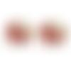 1 pendentif breloque - connecteur - éléphant émaillé rouge - dorée
