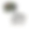 1 pendentif breloque - connecteur - éléphant émaillé - argenté