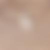 1 breloque pendentif lapin blanc - email - strass - métal doré