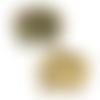 1 pendentif breloque - connecteur - éléphant émaillé - doré