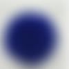 1 pompon fourrure lapin angora - 6 cm - bleu roi