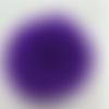1 pompon fourrure lapin angora - 6 cm - violet