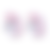 1 perle en silicone - licorne - rose