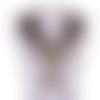 1 col - encolure - plastron - dentelle - fleurs dorées