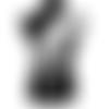 1 applique dentelle de venise - plume de paon - blanc