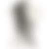1 applique dentelle de venise - plume de paon - noir