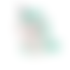 1 perle en silicone - licorne - verte