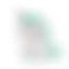 1 anneau de dentition - licorne en silicone - verte