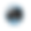 1 cabochon en verre - 25 mm - merci maîtresse