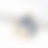 1 breloque pendentif licorne email - métal doré