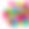Lot de 10 perles lentilles en silicones - 12 x 7 mm - multicolores - couleurs vives