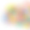 Lot de 10 perles lentilles en silicones - 12 x 7 mm - multicolores