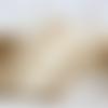 Ruban toile de jute et dentelle écrue - vendu par rouleau de 1.95m
