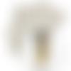 Feuille simili cuir imprimé - indienne - 20 x 34 cm