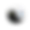 1 cabochon en verre - 25 mm - yin-yang - oeil de chat