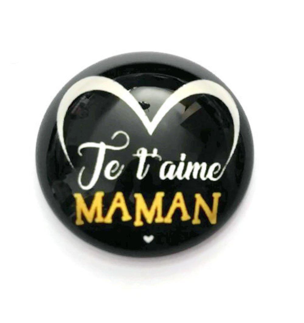 World/'s Best Maman en verre noir cabochon Chaîne Collier Sautoir Pendentif Wholesale
