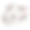 1 breloque perroquet blanc - email blanc - métal doré