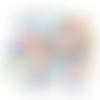 Perle goutte à facette cristal autrichien  - lot de 20 - 5 x 7 mm - ref p-1015