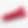 1 pompon- gland etoile - simili cuir - fuchsia