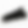 1 pompon- gland etoile - simili cuir - noir