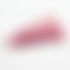 1 pompon- gland etoile - simili cuir - rose