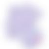Feuille simili cuir imprimé - coeur parme - bleu - 20 x 34 cm