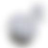 Feuille simili cuir imprimé - bleuets - fleurs- 20 x 34 cm