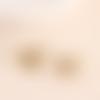 1 breloque abeille - strass - email  -  métal doré