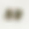 Lot de 5 fermoirs mousqueton - forme coeur - couleur bronze - 10 x 7 mm