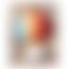 1 breloque pendentif ballon - montgolfière - émaillée