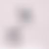 1 breloque pendentif panda  - émaillée - métal argenté