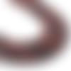 Lot de 10 perles oeil de tigre naturelle - marron - 6 mm - ref p-1024