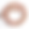 Lot de 10 perles howlite naturelle - rose marbré - 6 mm ref- p-1031