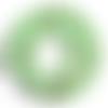 Lot de 10 perles howlite naturelle - vert marbré - 6 mm - ref p-1027